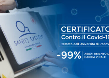 Sanity System Certificato dall'università di Padova, è il 99%  virucida nei confronti di SARS-CoV-2
