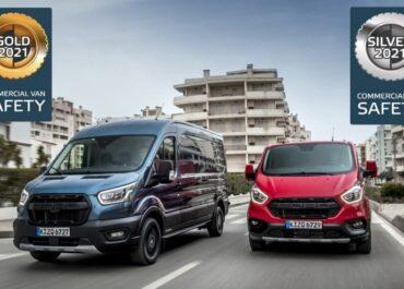 Ford Transit e Transit Custom premio Euro NCAP per i sistemi di sicurezza attiva dei furgoni